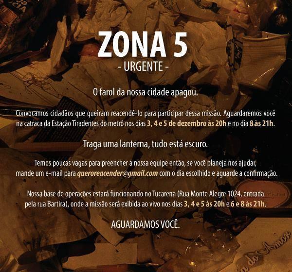 Artes do Corpo: Zona 5 propõe expedições para uma cidade submersa