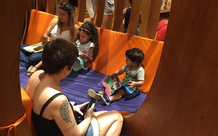 Espaço infantil de leitura Livraria Cultura